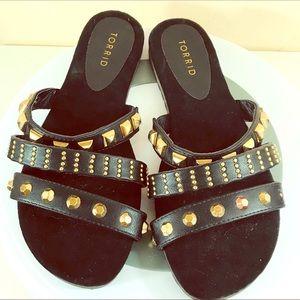 Torrid wide width studded strappy sandals 8.5 W